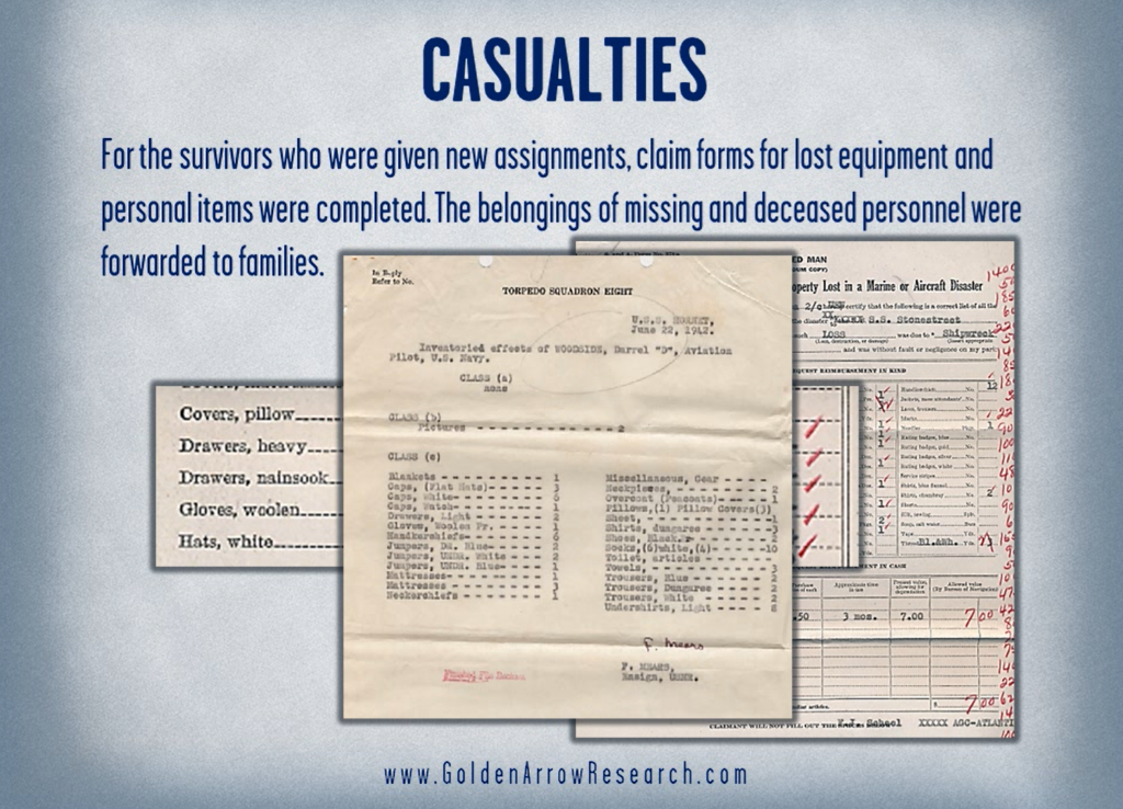 WWII Navy military service records OMPF casualty records