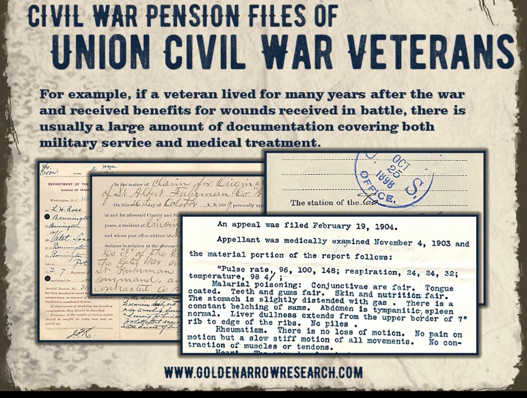 civil war pension file example of medical treatment documents found in the pension record file of civil war veteran soldiers.