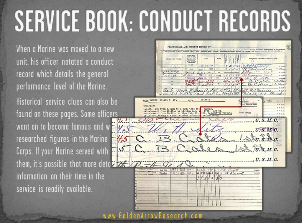 USMC OMPF military record conduct reports veteran records from NPRC official military personnel file archival research