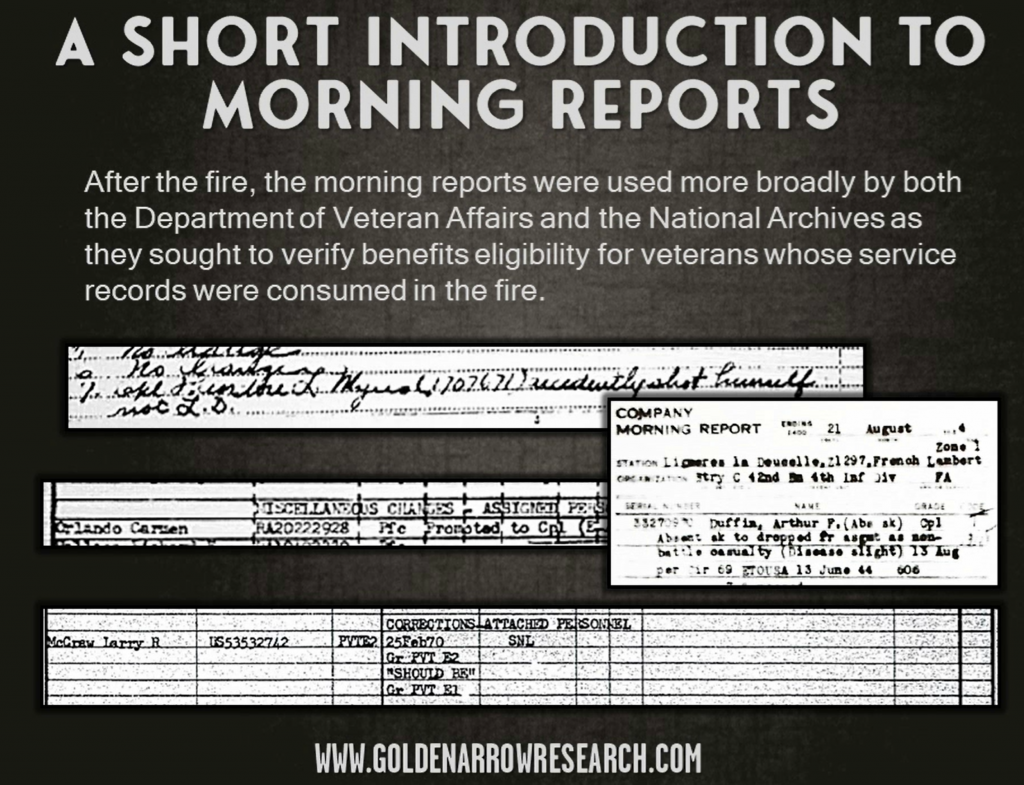 morning reports department of veterans affairs 1973 fire benefits eligibility claim filed